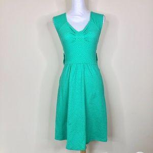 9-hi5 Anthropologie Open Back Teal Green Dress